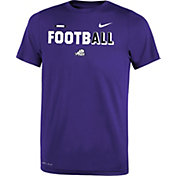 Nike Youth TCU Horned Frogs Purple FootbALL Sideline Legend T-Shirt