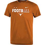 Nike Youth Texas Longhorns Burnt Orange FootbALL Sideline Legend T-Shirt
