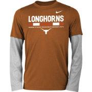 Nike Youth Texas Longhorns Burnt Orange/Grey Football Sideline Staff 2-Fer  Legend Long
