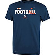 Nike Youth Virginia Cavaliers Blue FootbALL Sideline Legend T-Shirt