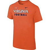 Nike Youth Virginia Cavaliers Orange Football Sideline Facility T-Shirt