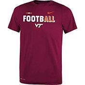 Nike Youth Virginia Tech Hokies Maroon FootbALL Sideline Legend T-Shirt