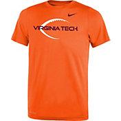 Nike Youth Virginia Tech Hokies Burnt Orange Football Icon Legend T-Shirt