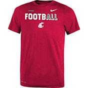 Nike Youth Washington State Cougars Crimson FootbALL Sideline Legend T-Shirt