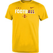 Nike Youth Iowa State Cyclones Gold FootbALL Sideline Legend T-Shirt