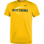 Nike Youth West Virginia Mountaineers Gold Football Icon Legend T-Shirt