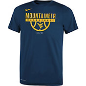 Nike Youth West Virginia Mountaineers Blue Basketball Legend T-Shirt