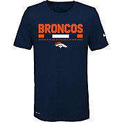 Nike Youth Denver Broncos Legend Staff Performance Navy T-Shirt