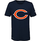 Nike Youth Chicago Bears Legend Logo Navy Performance T-Shirt