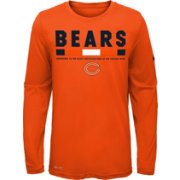 Nike Youth Chicago Bears Legend Staff Orange Performance Long Sleeve Shirt