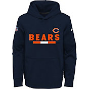 Nike Youth Chicago Bears Therma-FIT Navy Performance Pullover Hoodie
