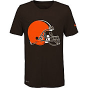 Nike Youth Cleveland Browns Legend Logo Brown Performance T-Shirt