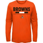 Nike Youth Cleveland Browns Legend Staff Orange Performance Long Sleeve Shirt
