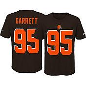Nike Youth Cleveland Browns Myles Garrett #95 Pride Brown T-Shirt