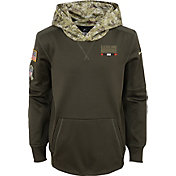 Nike Youth Cleveland Browns Salute to Service 2017 Therma-FIT Pullover Hoodie