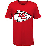 Nike Youth Kansas City Chiefs Legend Logo Red Performance T-Shirt