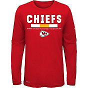 Nike Youth Kansas City Chiefs Legend Staff Red Long Sleeve Shirt