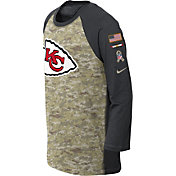 Nike Youth Kansas City Chiefs Salute to Service 2017 Raglan
