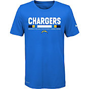 Nike Youth Los Angeles Chargers Legend Staff Performance Blue T-Shirt