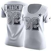 Nike Women's Dallas Cowboys Jason Witten #82 Prism Player White T-Shirt