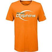Nike Youth Miami Dolphins Legend Icon Performance Orange T-Shirt