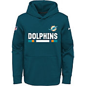 Nike Youth Miami Dolphins Therma-FIT Aqua Performance Pullover Hoodie