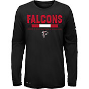 Nike Youth Atlanta Falcons Legend Staff Black Performance Long Sleeve Shirt