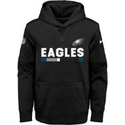Nike Youth Philadelphia Eagles Therma-FIT Black Performance Pullover Hoodie