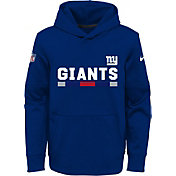 Nike Youth New York Giants Therma-FIT Royal Performance Pullover Hoodie