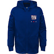 Nike Youth New York Giants Therma-FIT Royal Full-Zip Performance Hoodie