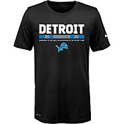 Nike Youth Detroit Lions Legend Staff Performance Black T-Shirt