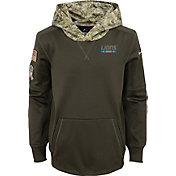Nike Youth Detroit Lions Salute to Service 2017 Therma-FIT Pullover Hoodie