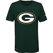 Nike Youth Green Bay Packers Legend Logo Green Performance T-Shirt