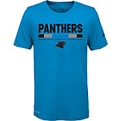 Nike Youth Carolina Panthers Legend Staff Performance Blue T-Shirt