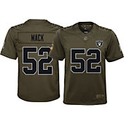 Nike Youth Home Limited Salute to Service 2017 Oakland Raiders Khalil Mack #52 Jersey