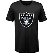 Nike Youth Oakland Raiders Legend Logo Black Performance T-Shirt