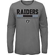 Nike Youth Oakland Raiders Legend Staff Grey Performance Long Sleeve Shirt