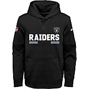 Nike Youth Oakland Raiders Therma-FIT Black Performance Pullover Hoodie