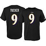 Nike Youth Baltimore Ravens Justin Tucker #9 Pride Black T-Shirt