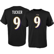 Nike Youth Baltimore Ravens Justin Tucker #9 Pride Black T-Shirt