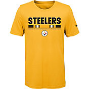 Nike Youth Pittsburgh Steelers Legend Staff Performance Gold T-Shirt