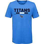 Nike Youth Tennessee Titans Legend Staff Performance Blue T-Shirt