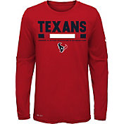 Nike Youth Houston Texans Legend Staff Red Performance Long Sleeve Shirt