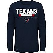Nike Youth Houston Texans Legend Staff Navy Long Sleeve Shirt