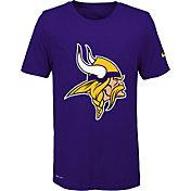 Nike Youth Minnesota Vikings Legend Logo Purple Performance T-Shirt