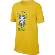 Nike Youth 2018 FIFA World Cup Brazil Crest Yellow T-Shirt