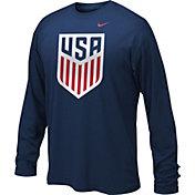 Nike Youth USA Legend Crest Navy Long Sleeve Shirt