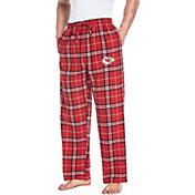 Concepts Sport Men's Kansas City Chiefs Huddle Flannel Pants