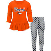 NFL Team Apparel Infant Girls' Denver Broncos Pants/Top Set