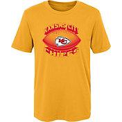 NFL Team Apparel Boys' Kansas City Chiefs Satellite Gold T-Shirt